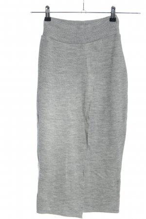 Missguided Knitted Skirt light grey flecked casual look