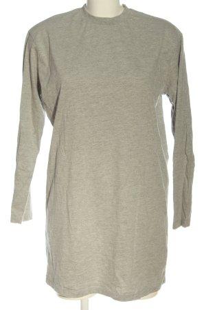 Missguided Vestido de tela de sudadera gris claro-blanco puro moteado