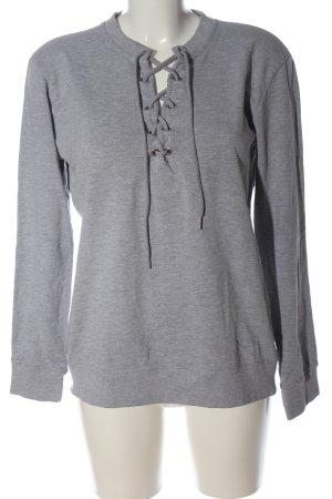 Missguided Sweatshirt hellgrau meliert Casual-Look