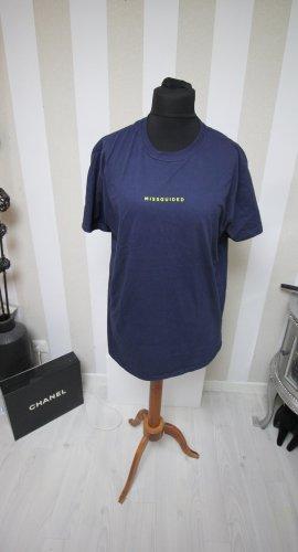 Missguided T-shirt blu scuro