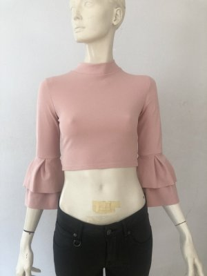 Missguided Top rosa Gr. 36 cropped