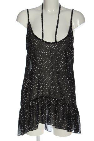 Missguided Top met spaghettibandjes zwart-wit volledige print casual uitstraling