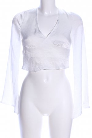 Missguided Transparenz-Bluse weiß Casual-Look