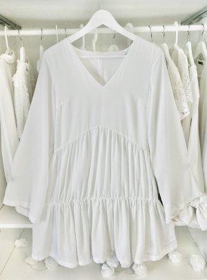 Missguided Longsleeve Dress white