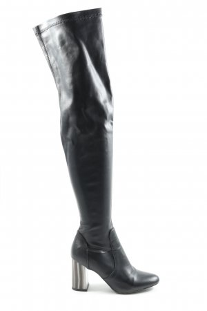 Missguided Wide Calf Boots black casual look