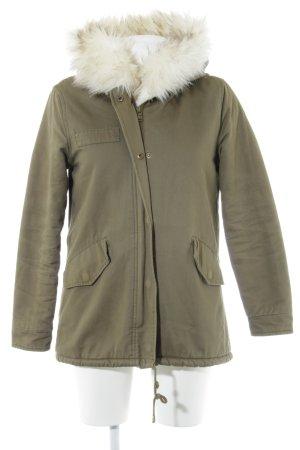 Missguided Winterjacke khaki-weiß Casual-Look