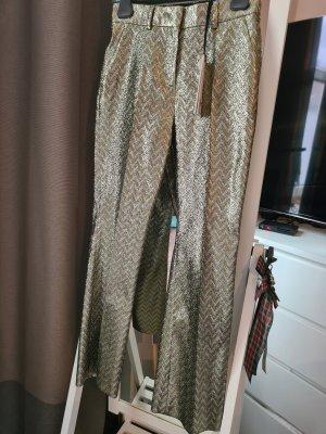 Missoni Pantalon en jersey argenté-vert clair