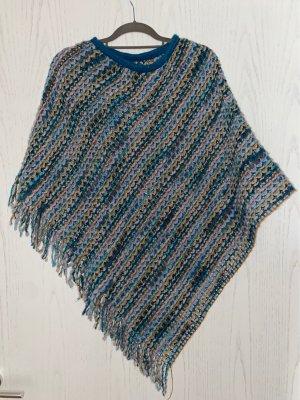 Missoni Poncho en tricot multicolore laine