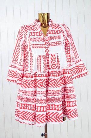 MISSLOOK Damen Kleid Hängerchen Ethno Hippie 3/4-Arm Rot Gr.M Neu!