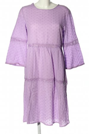 Misslook Hippie Dress lilac allover print casual look