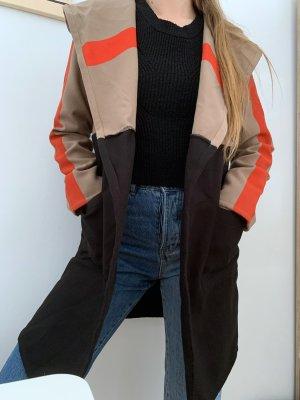 Misslook Manteau à capuche multicolore
