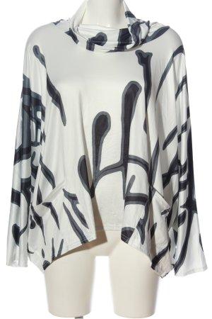 Misslook Rollkragenpullover abstraktes Muster Casual-Look