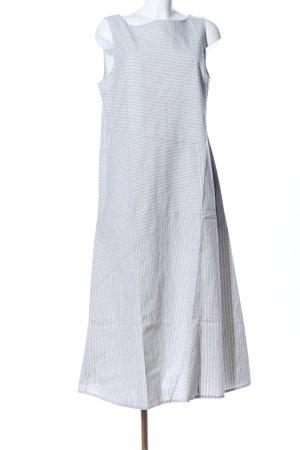 Misslook Trägerkleid hellgrau-weiß Streifenmuster Casual-Look