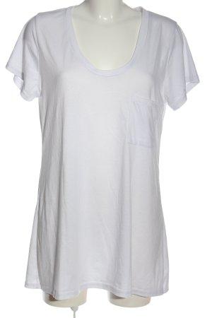 Misslook T-Shirt weiß Casual-Look
