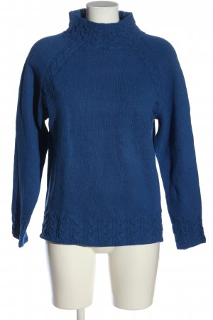 Misslook Cable Sweater blue cable stitch casual look
