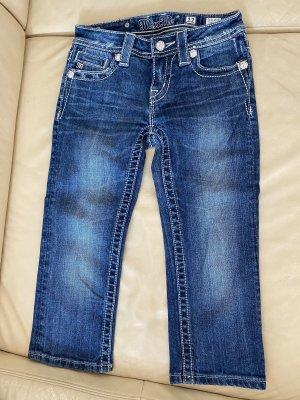 Miss Me Jeans 7/8 bleu acier-bleu azur