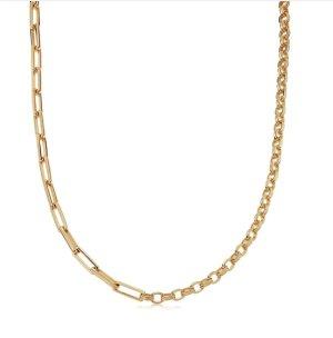 Missoma Złoty łańcuch piaskowy brąz Metal