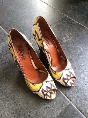 Missoni Platform High-Heeled Sandal yellow-light brown