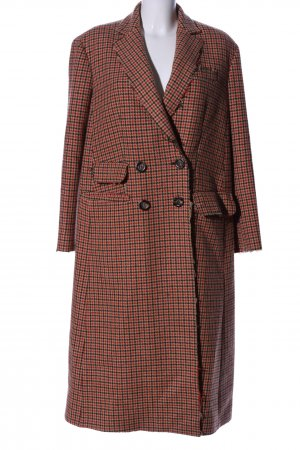 Missoni Heavy Pea Coat check pattern business style