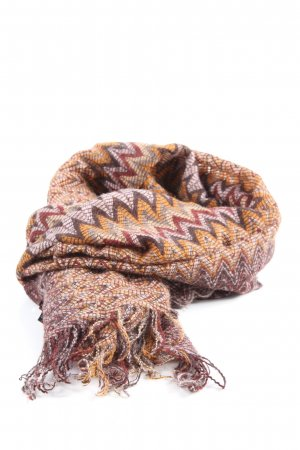 Missoni Fringed Scarf graphic pattern casual look