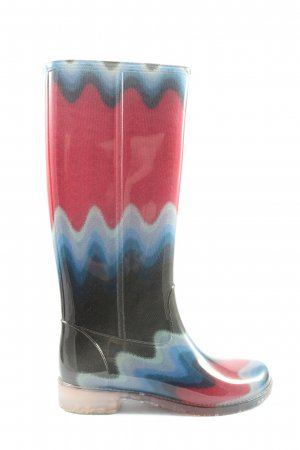 Missoni Wellies abstract pattern casual look