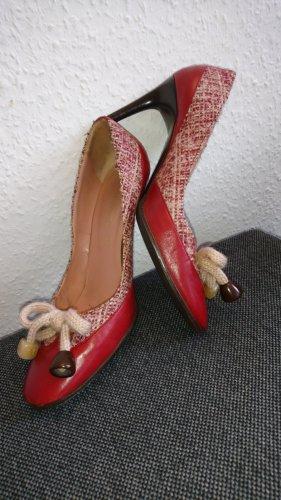 Missoni high heels aus leder