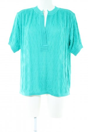 Missoni Short Sleeved Blouse turquoise casual look