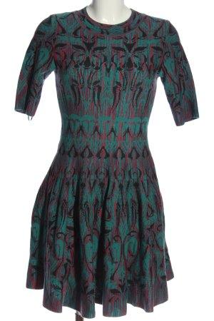 Missoni Robe à manches courtes vert-rouge motif abstrait style décontracté