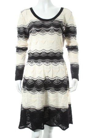 Missoni Langarmkleid schwarz-wollweiß