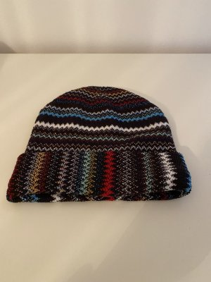 Missoni Bonnet en crochet multicolore