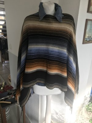 Missoni One size Poncho detaillierte Optik Original ! Wunderschöne Farben wolle