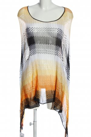 Missoni Poncho grafisches Muster Casual-Look