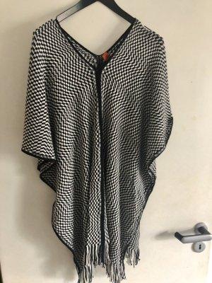 Missoni Poncho en tricot blanc-noir