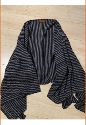 Missoni Schoudersjaal zwart-grijs Wol