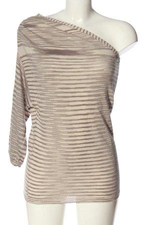 Missoni T-shirt rayé blanc cassé-rose imprimé allover style décontracté