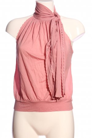 Missoni Blusa con volantes rosa look casual