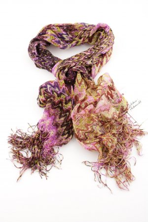 Missoni Crochet Scarf multicolored viscose