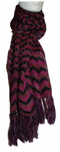Missoni Knitted Scarf multicolored mohair