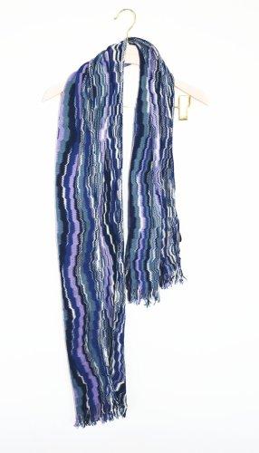 Missoni Schal Shawl Wolle Streifen ZIG ZAG  55 x 185 Unisex