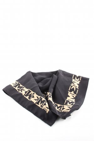Missoni Silk Cloth black printed lettering business style