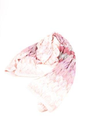 Missoni Zomersjaal room-roze volledige print casual uitstraling