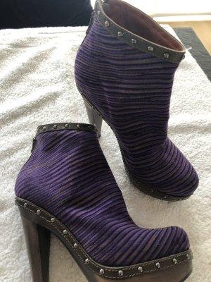 Missoni Platform Booties dark violet wood