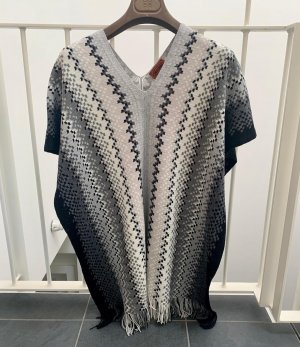 Missoni Knitted Poncho multicolored wool