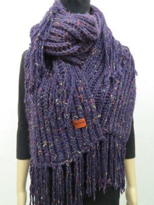 Missoni Knitted Scarf dark violet