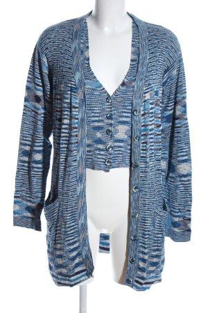 Missoni Gebreide twin set abstract patroon zakelijke stijl