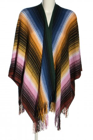 Missoni Knitted Poncho striped pattern casual look