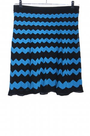 Missoni Knitted Skirt black-blue graphic pattern casual look
