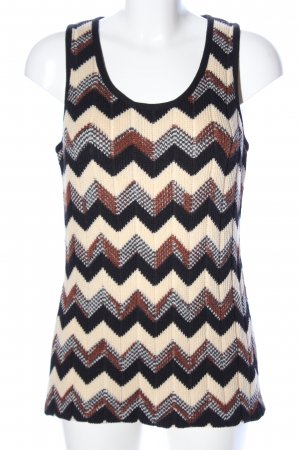Missoni Knitted Top graphic pattern casual look