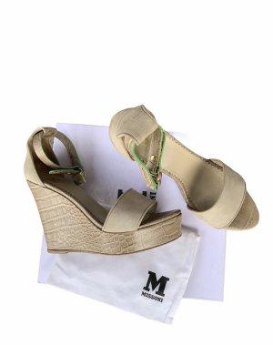 Missoni Platform Sandals silver-colored-beige