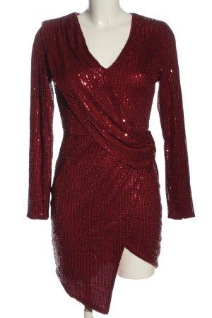 MissOrd Vestido de lentejuelas rojo elegante